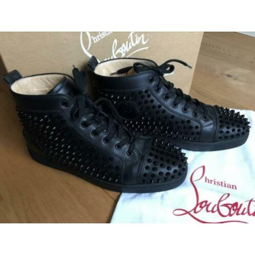 "Christian Louboutin ""Louis Flat Calf/Spikes"" black maat 42,5"