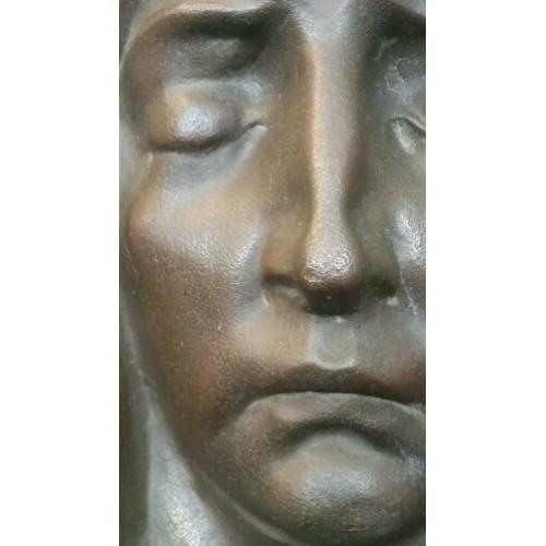 Bronzen Wall Plaque Mary Sculpture by Francis Corbeels